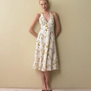 J. Crew linen halter dress sz4